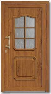 Haustür Modell 202-15 Glas Barock weiß
