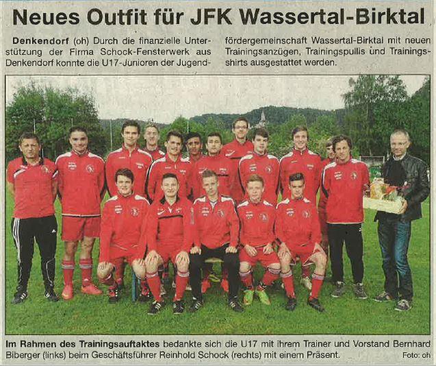 Neues Outfit für JFK Wassertal-Birktal