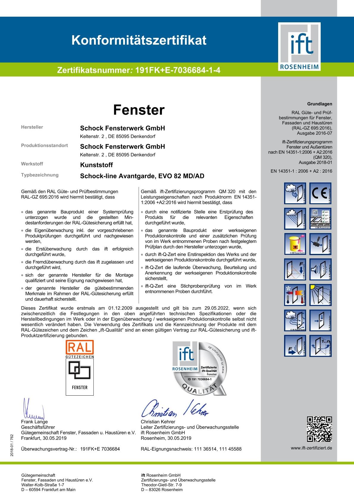 IFT Zertifikat 2019