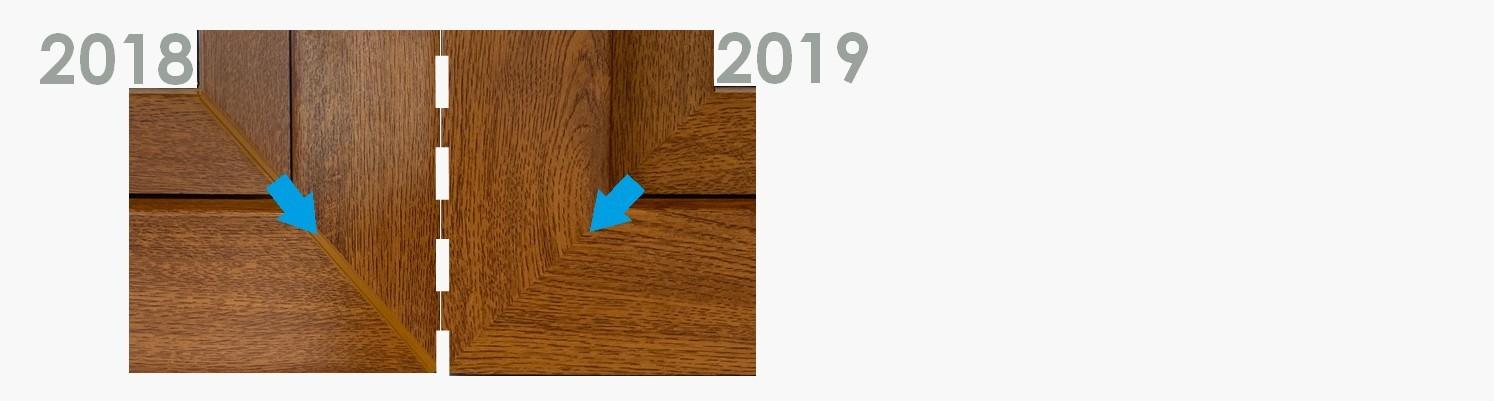Vergleich alte/neue Fensterecke-Schweißnaht
